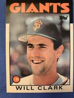 1986 Topps Traded #24T Will Clark RC ungraded flawless