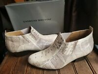Georgio Brutini Size 8.5 Snakeskin Ankle Booties Private Collection w/box