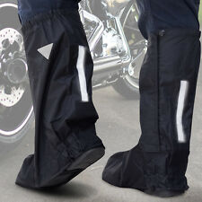 MM Rain Boot Covers for Motorcycle Black Reflective Nylon Waterproof Shoe Guard