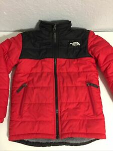 KID'S The North Face Reversible Chimbarozo Puffy Jacket SZ S Red/Black/Gray