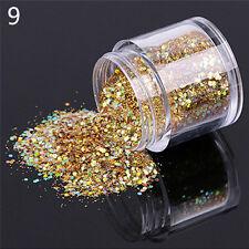1 Box 10ml Mixed Nail Art Glitter Powder Sequins Nail Art Decor Accessories GS