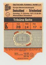 Orig.Ticket    EM Qualifikation  11.10.1975  DEUTSCHLAND - GRIECHENLAND  !!  TOP