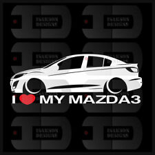 I Heart My Mazda 3 Sticker Love Slammed JDM Japan Speed Low Stance Sedan BL Gen2