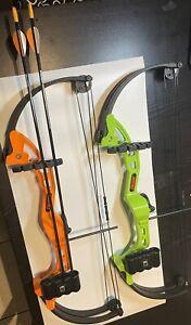 2unit Bear Archery AYS300TR Brave Orange And Green Compound Bow Rh