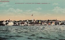 Postcard Government Landing and Harbour Newport Ri
