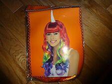 Little Pony Women's Unicorn Princess Rainbow Cosplay Wig Long Curly Hair Wigs