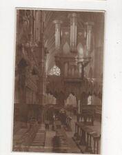 Exeter Cathedral Organ & Bishops Throne Vintage Postcard 581a