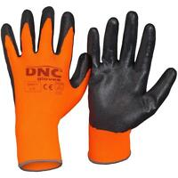 Nitrile coated Protective work gloves polyester liner comfort dexterity all day