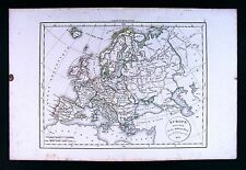 1832 Antique Map by Delamarche  Europe France Spain Italy Germany England Sweden
