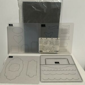 Stampin Up PIERCE MAT Templates Paper Piercing Lot