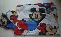 Disney Mickey & Minnie Mouse Flat Fitted Twin Sheet Set Vintage Wamsutta Fabric