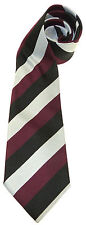 THE NORTH STAFFORD REGIMENT WOVEN STRIPE UK MADE MILITARY TIE
