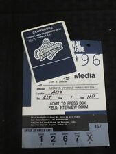 1996 NLCS Atlanta Braves Media Press Badge/Pin 1,2,6,7 games vs Cardinals