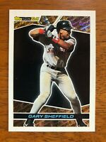 1993 Topps GARY SHEFFIELD San Diego Padres Black Gold Baseball Card #18