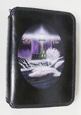 BIBLE COVER ZIPPERED MEDIUM CASE HAND TOOLED MADE LEATHER LIGHTHOUSE JESUS