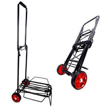 Tectron Hammerstone Fold-able Luggage Hand Truck Dolly, 55 lbs Max Load, Black