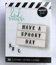 NEW Heidi Swapp Lightbox Alphabet Letter Inserts- Halloween Spooky Black 50 Pcs