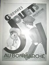 PUBLICITE DE PRESSE AU BON MARCHE ETRENNES JOUETS ILLUSTRATION WILQUIN AD 1929