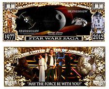 Star Wars Million Dollar Bill NOVELTY  Collectible-- MONEY- ITEM -N1