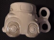 "Fitz and Floyd ""Auto"" Mug w/ Wind-up Key Handle 1987 Never Used Fun Gift"