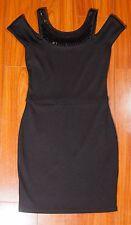 Armani Exchange Women's Little Black Cocktail Dress Sequins Off the Shoulder XS