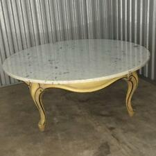 """Vintage French Provincial 40"""" Round Marble Top Coffee Table Made in Italy"""