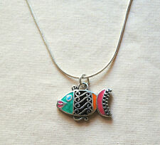 BRAND NEW colorful custom BRIGHTON 'Sea Love' FISH necklace !  FREE SHIPPING !!