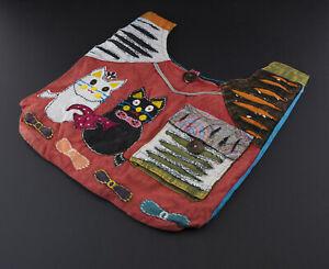 Handbag Ethnic Satchel Shoulder Strap Hippie Baba Cool Beach Small Cats 9714