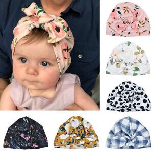Newborn Baby Infant Turban Hat Head Wrap Soft Cotton Headband Beanie Hat Cap