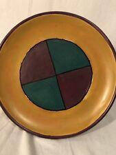 "Bergschrund Seattle Plate Platter Purple Teal Mustard 11+""  from Sri Lanka 2000"
