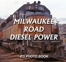 Milwaukee Road Diesel Locomotives CD book