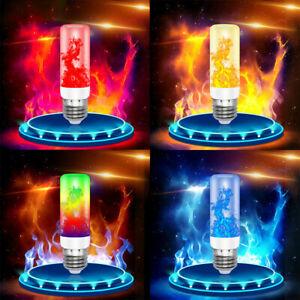 E27 LED Flicker Flame Lamp Bulb Simulated Burning Fire Effect Bulb Light Decors