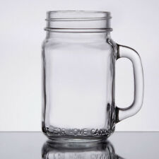 12 NEW Core 16 oz. Glass Mason Jar / Drinking Jar with Handle 55316JAR
