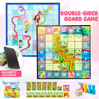 2 In 1 Horse Crossing The River  Double-Sided Puzzle Logic Thinking Board Game