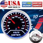 Auto Volt Gauge 2 52mm Led Voltmeter 1-18v Digital Voltage Pointer Display 12v