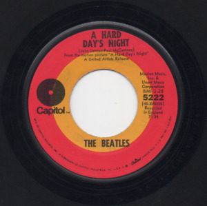 "BEATLES A Hard Day's Night 7"" TARGET CAPITOL 5222 REISSUE 45"