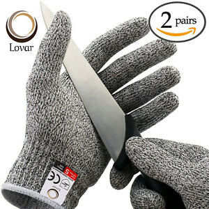 2 pairs Level 5 Cut Resistant Gloves, Safety Gloves,