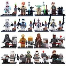 16 MINI FIGURES FIT WITH LEGO STAR WARS YODA OBI WAN DARTH VADER C-3PO HANSOLO