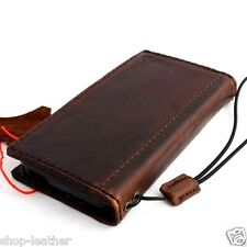 genuine oiled vintage leather case fit iphone 5s 5 5c c book wallet cover retro