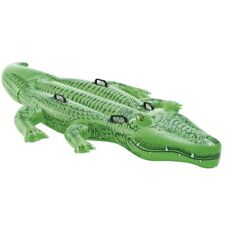 Inflatable Pool Floats Ride on Alligator Swimming Toys Rafts Crocodiles Green US
