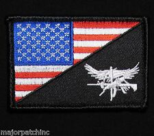 Swat Eagle Usa American Flag Us Army Military Morale Tactical Color Hook Patch
