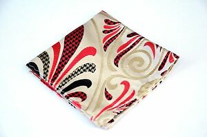 Lord R Colton Masterworks Pocket Square - Gold Pink Hysteria Check  Silk $75 New