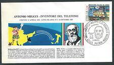 1976 ITALIA BUSTA SPECIALE ANTONIO MEUCCI INVENTORE DEL TELEFONO - KI16