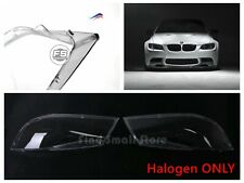 US New Pair Headlight Lens Plastic Shell Cover For BMW 05-08 E90 HALOGEN ONLY