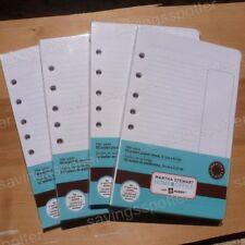 Martha Stewart Office Planner Filler Paper 5.5x8.5 Mini Binder 7 Hole 200 Sheets