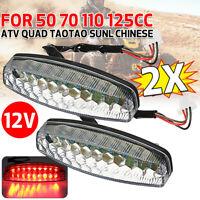 2x 12V Motorcycle LED Brake Stop Tail Light 50-125CC Chinese ATV Quad Dirt Bike