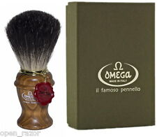 Omega 6191 Pure Badger Shaving Brush with Ash Handle