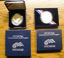 2008 US Mint Bald Eagle Proof Silver Dollar Commemorative Coin Set EA3 & EA4