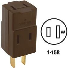 100 Pk Leviton 15A Brown 1-15R Single To Triple Electric Outlet 000-00531-000