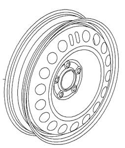 VAUXHALL WHEEL - GENUINE NEW - 13350701